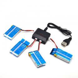 USB зарядний пристрій 4в1