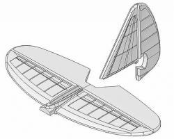 Хвостове оперення для авіамоделі Multiplex FunCub