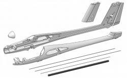 Фюзеляж для авіамоделі Multiplex Solius