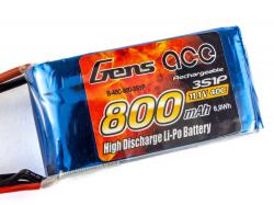 Акумулятор Gens Ace 800mAh 3S 40C