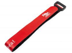 Ремінець RJX Hobby (30см) для фіксації акумулятора на липучці (червоний)