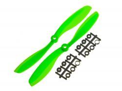 Пропелери для мультикоптера Gemfan 8045 пара зелені (CW+CCW)