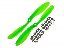 Пропелери для мультикоптера Gemfan 1045 пара зелені (CW+CCW)