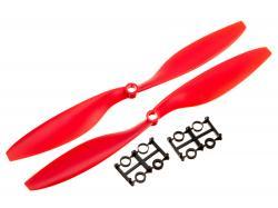 Пропелери для мультикоптера 1045 пара червоні (CW+CCW)