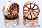 Комплект дисків коліс для шосейних автомоделей 1/10 (Бронзові)