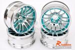 Комплект дисків коліс для шосейних автомоделей 1/10 (блакитні)