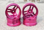 Диски алюмінієві Cmartlink RC 1/10 Drift Wheels Rim (рожеві)
