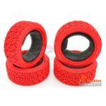 Комплект шосейної гуми для автомоделей 1/10 Touring Car L Pattern (червоні)