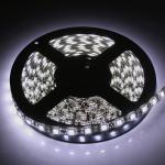 LED cтрічка 5050, холодний білий колір,чорна основа, вологозахищена IP65 (5см)