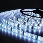 LED cтрічка 5050, холодний білий колір,основа біла, вологозахищена IP65 (5см)