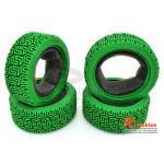 Комплект шосейної гуми для автомоделей 1/10 Touring Car L Pattern (зелені)