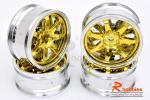Комплект дисків коліс для шосейних автомоделей 1/10 (срібно-золоті)