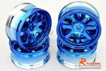 Комплект дисків коліс для шосейних автомоделей 1/10 (сині)