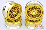 Комплект дисків коліс для шосейних автомоделей 1/10 (золоті)