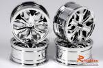 Комплект дисків коліс для шосейних автомоделей 1/10 (срібні)