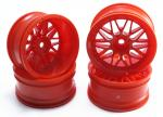 Комплект дисків коліс для шосейних автомоделей 1/10 RC Car (червоні)
